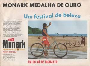 Publicidade Monark Feminina sére Medalha de Ouro 68